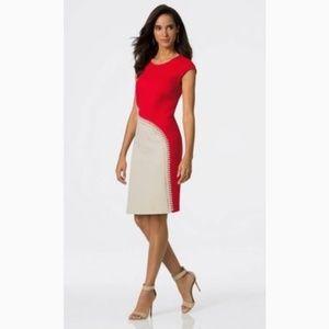 Carlisle |  | Vineyard Red and Nude Lacing Dress 4